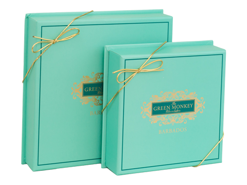 The Green Monkey signature chocolate boxes