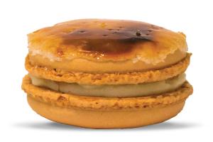 Crème brûlée macaron