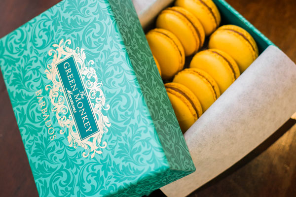Box of 12 macarons by The Green Monkey Chocolatier