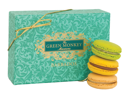 Signature macaron box for The Green Monkey