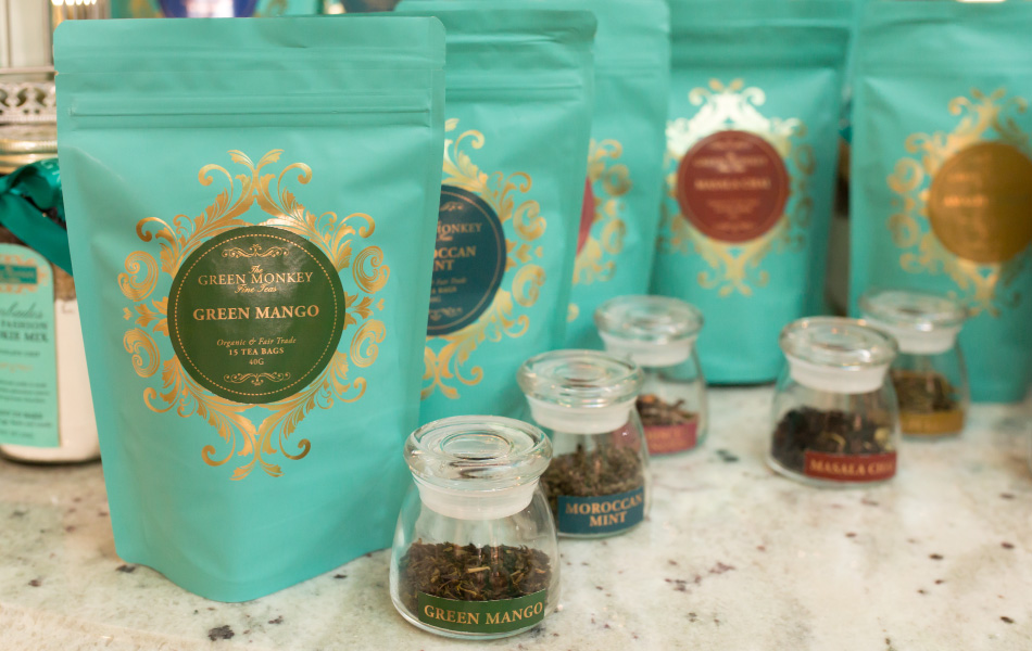 Fine Teas at The Green Monkey Chocolatier boutique in Barbados