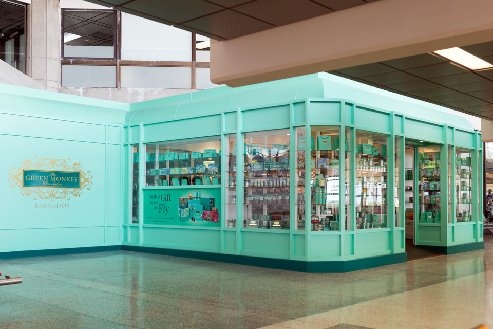 The Green Monkey Chocolatier boutique at Grantley Adams International Airport in Barbados