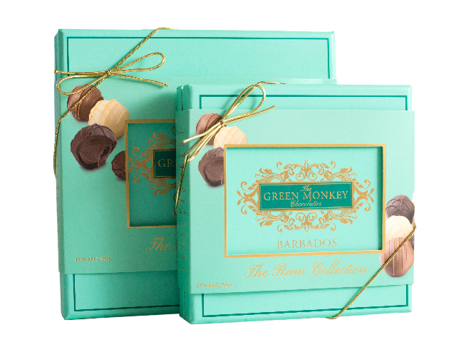 The Rum collection - a collection of rum truffles made in Barbados with Barbados rum
