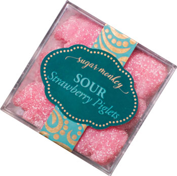 sour pink piglet candies