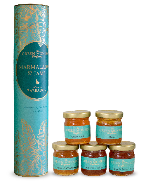 The Green Monkey Chocolatier's Marmalades and Jams Collection