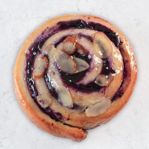 Small Wild Blueberry and Cream cheese brioche