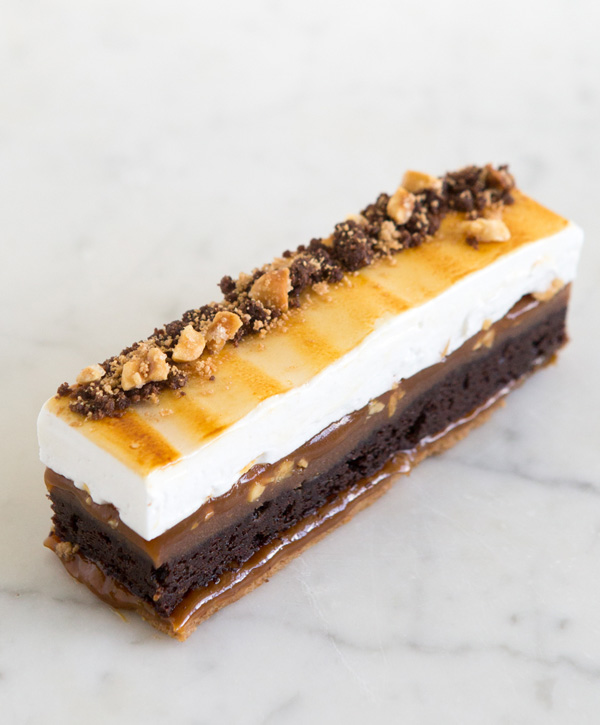 Peanut Salted Caramel Brownie S'mores Bar