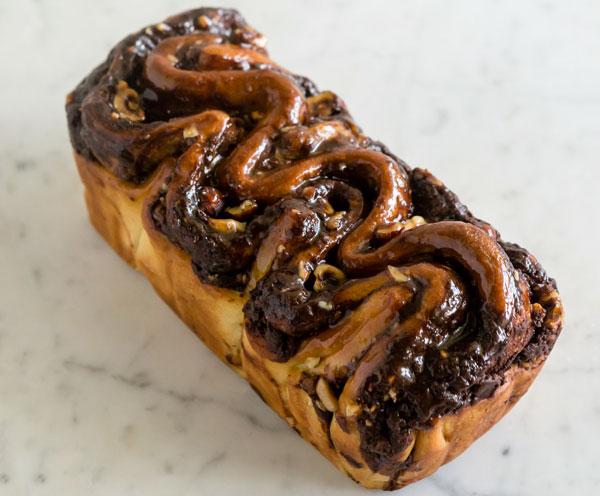 Large Milk Chocolate Hazelnut Brioche loaf