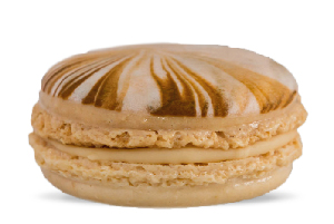salted caramel cheesecake macaron